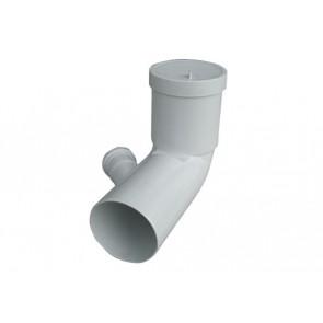 Curva bianca wc prolungata attacco bicchiere dx valsir diam. 110 / 40