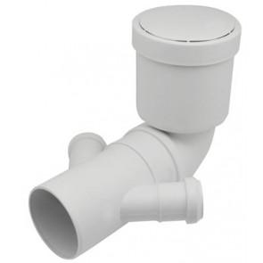 Curva wc prolungata con doppio attacco diam. 90/40