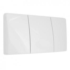Placca di comando bianca per cassetta medusa bianca