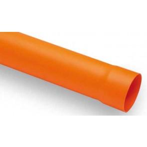 Tubo in pvc arancio diam. 125 lungh. 2000