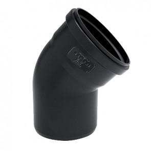 Curva phono black 45° mf diam. 100 mm