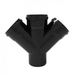 Derivazione tripla phono black diam. 100/50/50