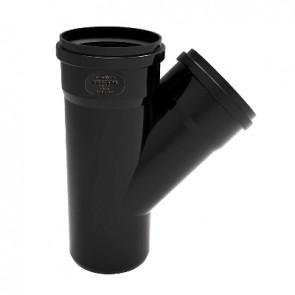 Derivazione phono black 45° mf diam. 100/100