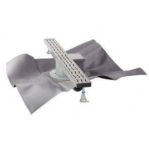 """Set doccia a pavimento """"skipper i"""" con griglia e foglio tea l. 700 mm x diam. 50"""