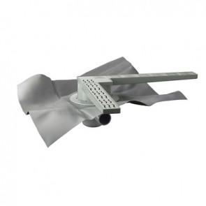 """Set doccia a pavimento """"skipper l"""" con gliglia e foglio 400x400 Foglio 1200"""