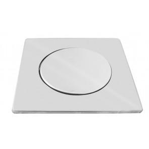 Piastra quadra acciaio con coperchio per griglia pozzetti 200x130 mm