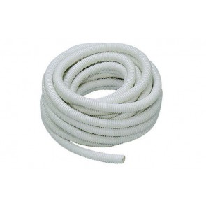 Tubo in pvc spiralato flessibile bianco a mt. diam. 40