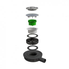 Sifone ultra ribassato mod. lyonnaise per piatti doccia scarico diam. 40 mm