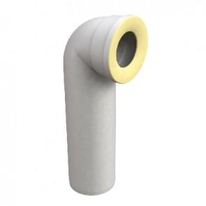 Curva a 90° per vasi wc scarico d. 90  mm