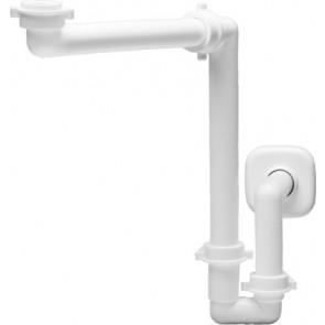 Sifone spaziobagno per lavabo bianco