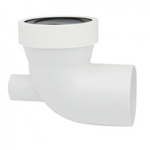 Prolunga wc corta maschio con guarnizione di tenuta troppo pieno
