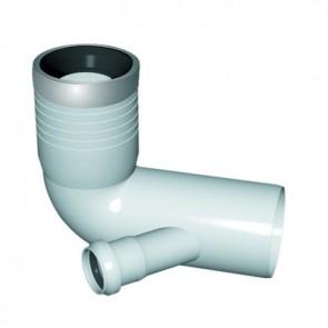 Curva wc prolungata 1 attacco con guarnizione e tappo d. 90-116-40 sx