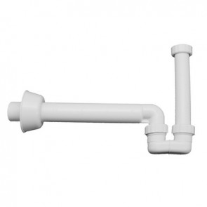 "Sifone per scarico bidet in pp bianco In. 1""1/4 - Out. 40"