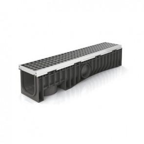Canale technodrain evomax 150h con griglia griglia acc. zinc./inox 30