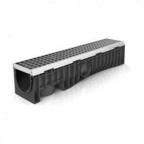 Canale technodrain evomax 100s con griglia griglia acciaio zinc./inox 30