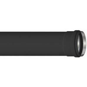 Tubo alluminio nero h 500 mm diam. 80