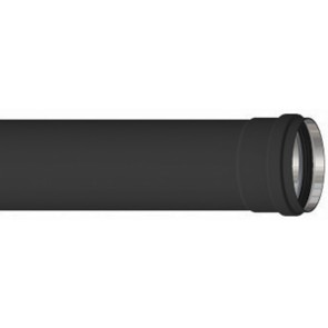 Tubo alluminio nero h 1000 mm diam. 80