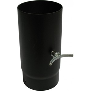 Tubo porcellanato h250 c/valvola di regolazione scarico diam.130
