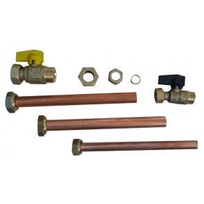 Kit idraulico 2 rubinetti per caldaia incasso
