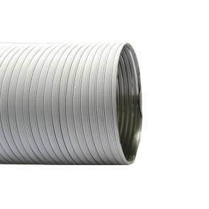 Tubo flessibile in alluminio preverniciato lunghezza 3 mt diam. 80