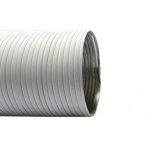 Tubo flessibile in alluminio preverniciato lunghezza 3 mt diam. 100