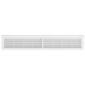 Griglia da incasso con rete l. 706 x h 130 mm bianco