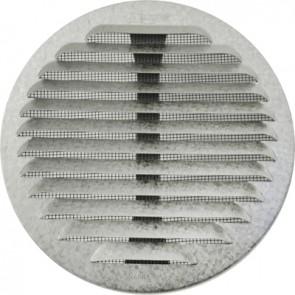 Griglia tonda in metallo con molle e rete d.80-140 mm alluminio bianco