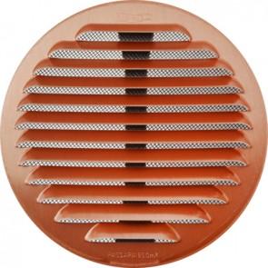 Griglia tonda in metallo con molle e rete d.125-160 mm alluminio ramato