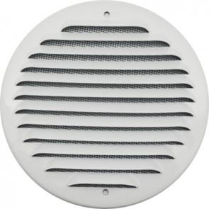 Griglia tonda da sovrapporre in metallo con rete d. 175 mm alluminio bianco