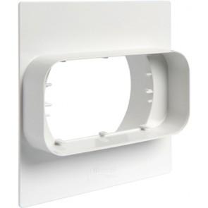 Placca per passaggio a muro da tubo tondo a rettangolare mm 120x60