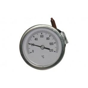 Termometro a capillare fissaggio a staffa per caldaie e forni diam. 60 scala 0/120° c