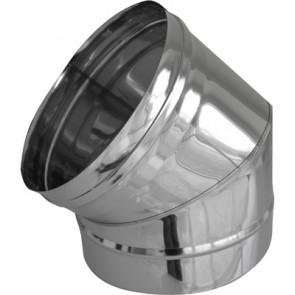Curva in acciaio a 45° per canne fumarie diam. 80