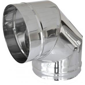 Curva in acciaio a 90° per canne fumarie diam. 120