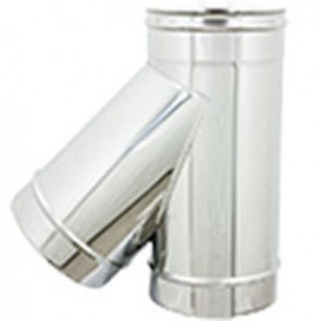 Braga in acciaio a 135° per canne fumarie diam. 100
