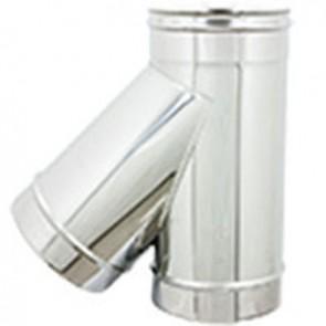 Braga in acciaio a 135° per canne fumarie diam. 130