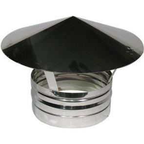 Terminale in acciaio per canne fumarie diam. 080