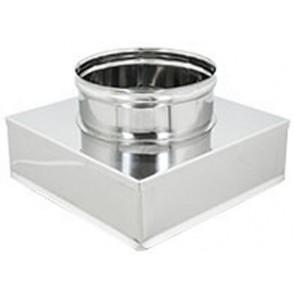 Riduzioni quadre-tonde acciaio inox da 250x250 a 200