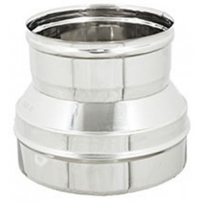Riduzione inox per canne fumarie diam. m 300-f 200