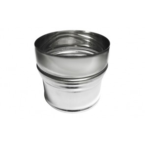 Aumento inox per canne fumarie diam. m 100- f 120