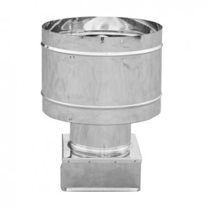 Fumaiolo 4 venti base quadra acciaio inox mm 450x450
