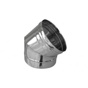 Curva in acciaio 316l a 45° per canne fumarie diam. 250