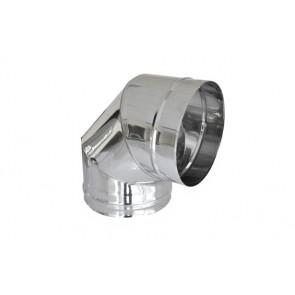 Curva in acciaio 316l a 90° per canne fumarie diam. 200