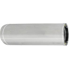 Tubo acciaio inox 316l doppia parete mt 1 diam. 80x130