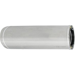 Tubo acciaio inox 316l doppia parete mt 1 diam. 100x150