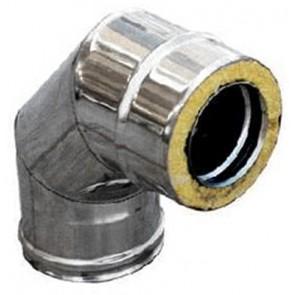Curva in acciaio inox 316l a 90° doppia parete diam. 200x250