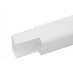 Canalina pvc con base e coperchio per impianti di climatizzazione mm. 110 x 75 l. mt. 2