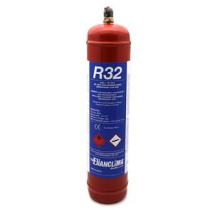 Bombola ricaricabile contenente gas refrigerante r32 800 gr