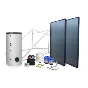 Impianto solare circuito forzato 200 lt 2 scamb. - 2 collettori