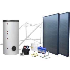 Impianto solare circuito forzato 300 lt 2 coll. - 2 scambiatori