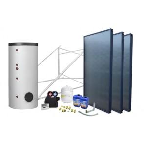 Impianto solare circuito forzato 500 lt 2 scamb. - 3 collettori